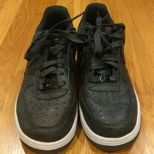 Nike Air Force 1 PRM ESS Paisley Black Size 7.5